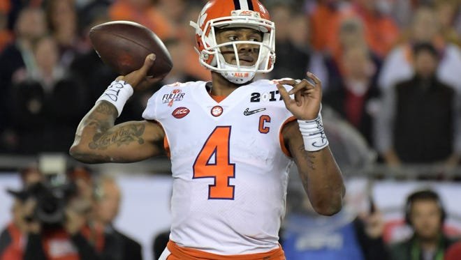 Clemson's Deshaun Watson may be the top-rated quarterback in the 2017 draft class.