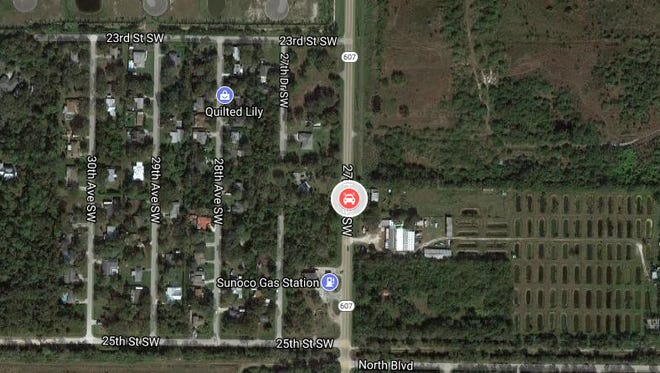 Location where a body was found in south Indian River County Dec. 4, 2017.