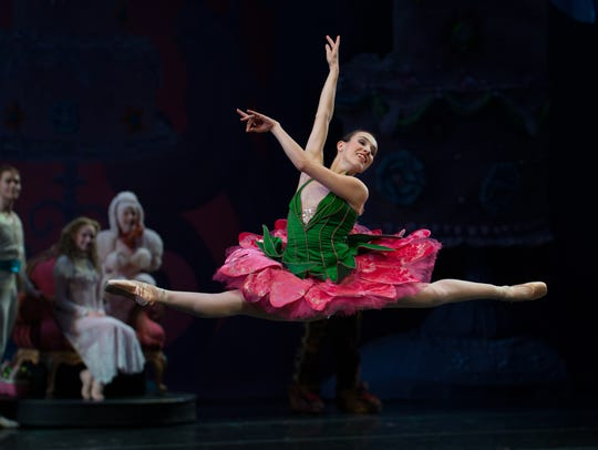 """Grace Shivers dances as the Rose during the """"Waltz"""