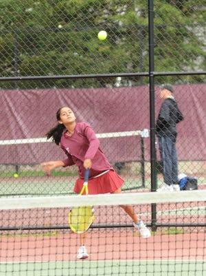 Nikhita Jain second singles. Nutley girls tennis.  Staff photo by Joe DiFranco