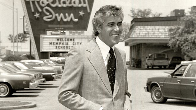 Mike Rose, President of Holiday Inn Hospitality Group, stands outside a Memphis location in this file photo from 1979.