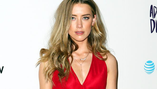 Amber Heard attending the premiere of 'The Adderall Diaries' in Los Angeles on April 12, 2016.