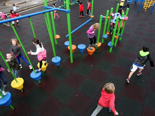 Children play during recess at Grant Elementary School in Salem on Feb. 4, 2016.