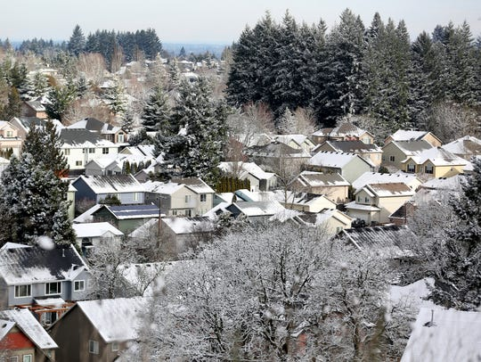 Will Salem get any snow next week? It appears possible, according to the National Weather Service. This picture is from Thursday, Feb. 22, 2018.