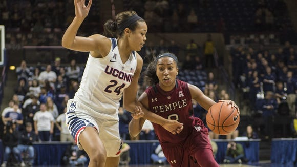 The Temple women's team will play No. 1 UConn on Feb. 14.