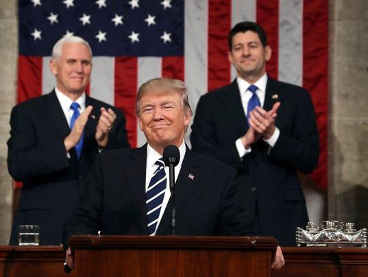 AP TRUMP AS SPEECHMAKER A FILE USA DC