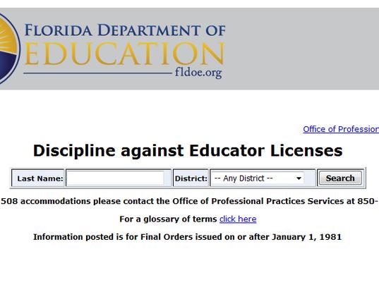 Florida discipline site