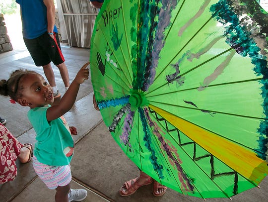 The juried Greenway Art Festival is held each September in Old Fort Park.