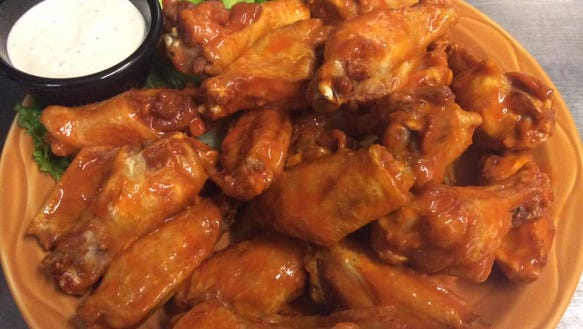 A plate of wings from T.C.'s Referee Sports Bar.