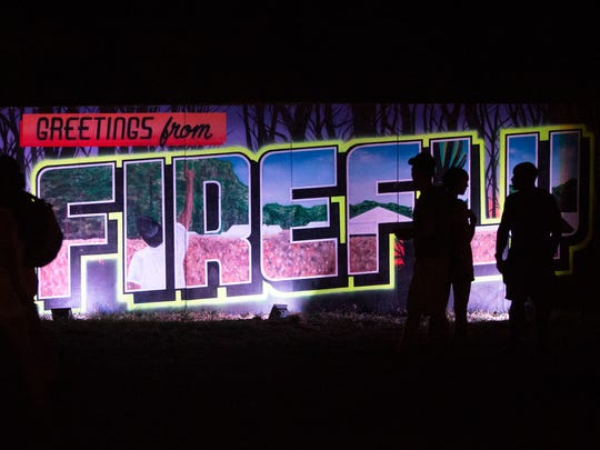 Music fans enjoy the second night of Firefly Music Festival at The Woodlands last year.