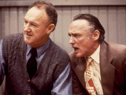 Dennis Hopper, right, portrayed Shooter Flatch in 1986