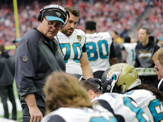 Doug Marrone is the Jaguars offensive line coach and assistant head coach.