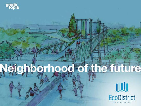 Cover image from the EcoDistrict at High Falls plan.