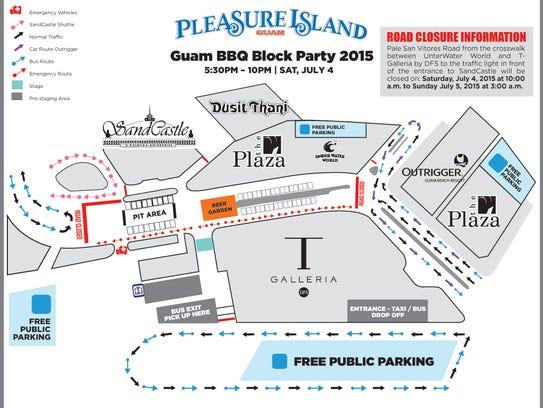 Guam Island Gvb Map