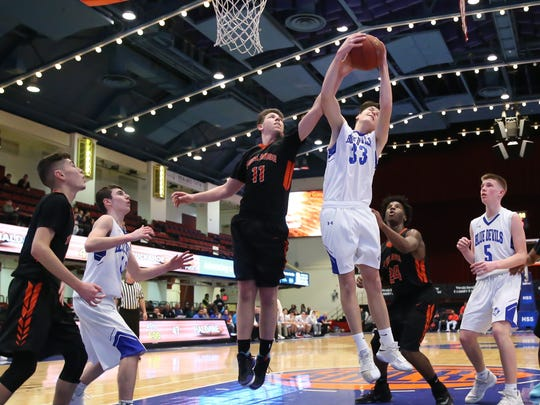 Semifinal games, like this Haldane vs. Tuckahoe Class C game, could use the County Center, but the 2018 Section 1 championships were moved from the storied venue.