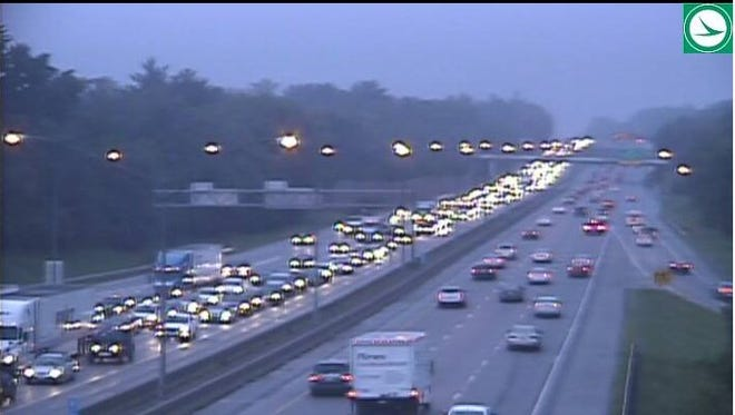 Lanes re-opened on NB I-71 at Pfeiffer about 8 a.m.