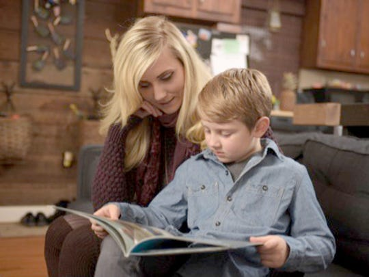 Aubin Wahl has developed into a strong reader, says his mother, Jennica.