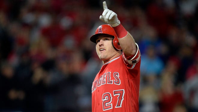 Despite missing 39 games last season with a broken thumb, Angels center fielder Mike Trout is once again the consensus No. 1 overall pick in fantasy baseball.