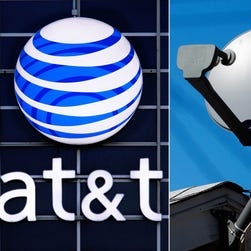 This file combo made from file photos shows the AT&T logo on the side of a corporate office in Springfield, Ill., left, and a DirecTV satellite dish atop a home in Los Angeles. AT&T, the second-largest U.S. wireless carrier, on May 18, 2014 agreed to buy satellite TV company DirecTV for $48.5 billion. (AP Photo/File) ORG XMIT: NYBZ407