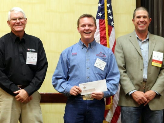 Hayden Randall of Taos, NM (center) was a past winner of the Purina Scholarship during the Joint Stockmen's Convention.
