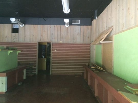 Interior of the vacated Checkerberry Shoppe in Old Germantown