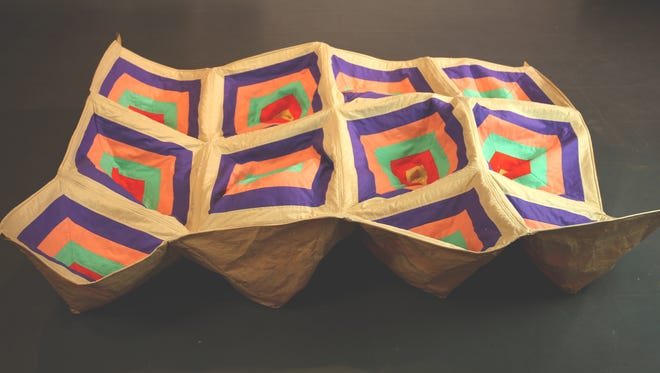 Land Art Quilt by artist Carissa Carman, who will be showcasing her work at UE's Melvin Peterson Gallery.