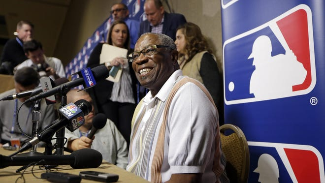 Washington Nationals manager Dusty Baker talks with reporters at the Major League Baseball Winter Meetings Tuesday.
