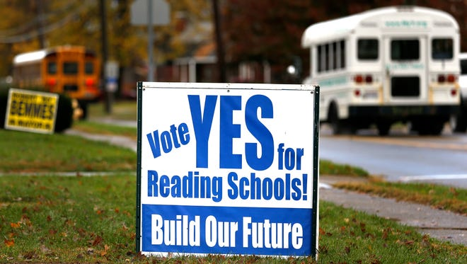 Reading schools are asking voters to approve a bond issue for a new, K-12 school. Voters can either pay for a new school now or they'll have to renovate at a much higher expense.