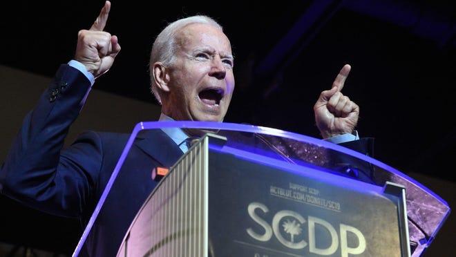 COLUMBIA, S.C. -- Former Vice President Joseph R. Biden addresses the South Carolina Democratic Party convention last May.
