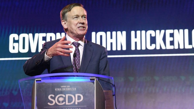 Former Colorado Gov. John Hickenlooper won the Democratic nomination Tuesday to face Republican Sen. Cory Gardner in November.