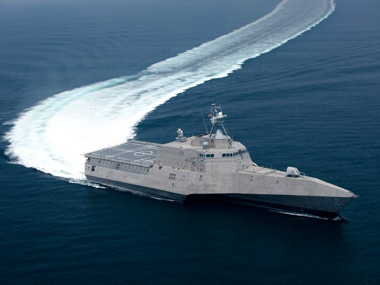 The littoral combat ship Independence underway during