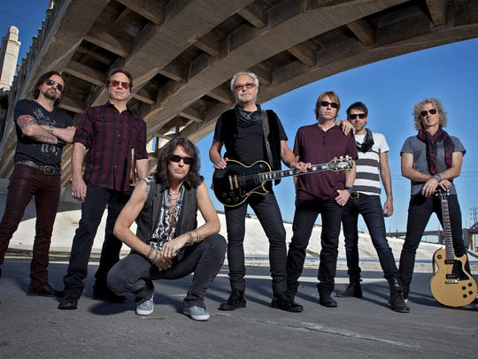 Foreigner, left to right, Chris Frazier (drums); Tom