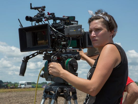 """This image released by Netflix shows Rachel Morrison on the set of the film """"Mudbound."""" Morrison was nominated for an Oscar for best cinematography on Tuesday, Jan. 23, 2018. The 90th Oscars will air live on ABC on Sunday, March 4. (Steve Dietl/Netflix via AP) ORG XMIT: NYET253"""