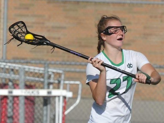 "Cranbrook sophomore Isabella Scane has 115 goals this year. ""She's big, she's strong, and she's fast,"" East Grand Rapids coach Rich Axtell said."