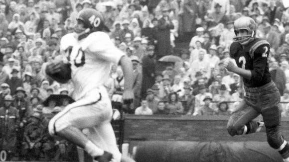 George Saimes, a consensus All-American fullback in 1962, led MSU in rushing and was also the team's defensive captain.