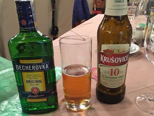 Drinks in Vienna, Austria.