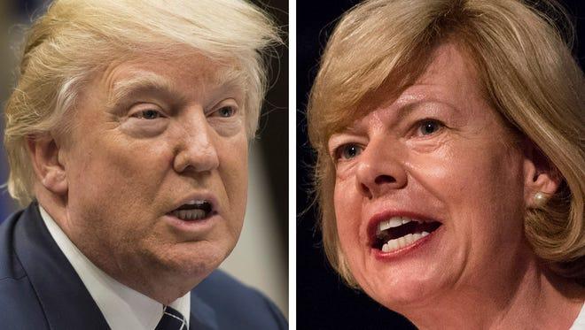 "Republican President Donald Trump endorsed Democratic Sen. Tammy Baldwin's ""Buy America"" bill."