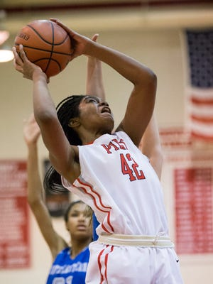 Kinnidy Garrard scored 30 points for Pike in the Red Devils' win over Heritage Christian Tuesday night.