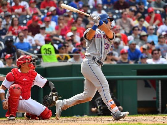 Apr 29, 2017; Washington, DC, USA; New York Mets left