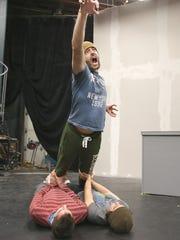 Darren Stevenson rehearses with Avi Pryntz-Nadworny