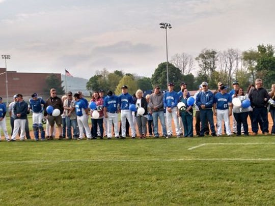 McConnellsburg's baseball team hosted its Parent Appreciation Night on Tuesday. The Spartans defeated Southern Huntingdon, 3-2.