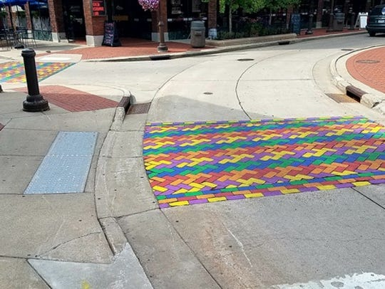 The completed crosswalk in Wausau.