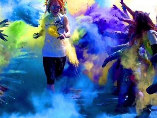 Run or Dye, a 5K race during which participants are showered with blasts of eco-friendly dye, takes place May 10, 2014, at the Hazel Park Raceway.