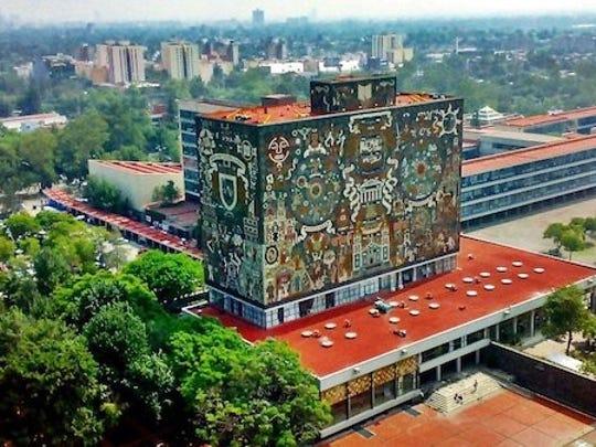 The Central Library at the Universidad Nacional Autonoma