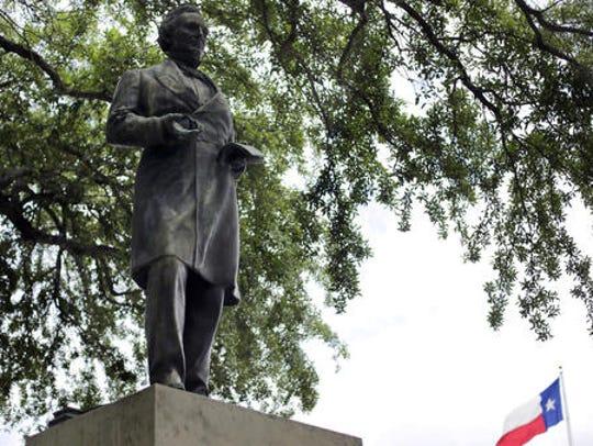 The statue of Confederate President Jefferson Davis