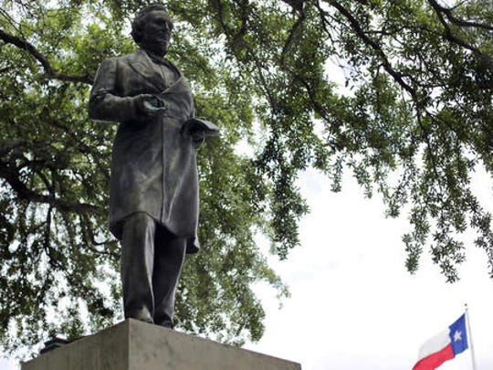 The statue of Confederate President Jefferson Davis was removed from the University of Texas at Austin in 2015.