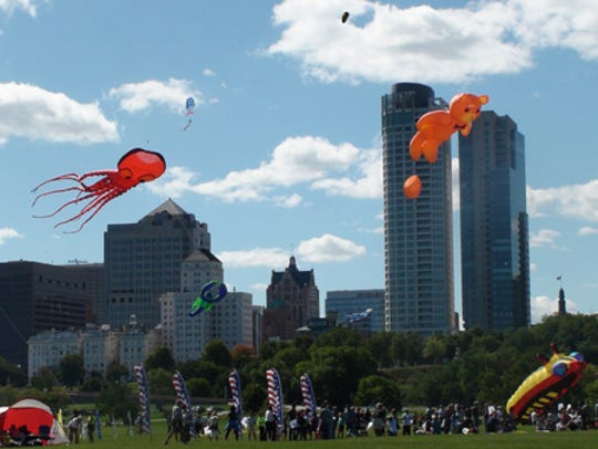 The giant kites are one of the highlights of the Frank