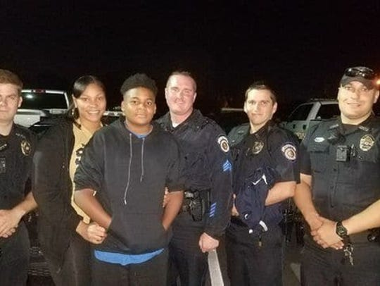 Officers with the MPPD pose for a pictures with Krystal