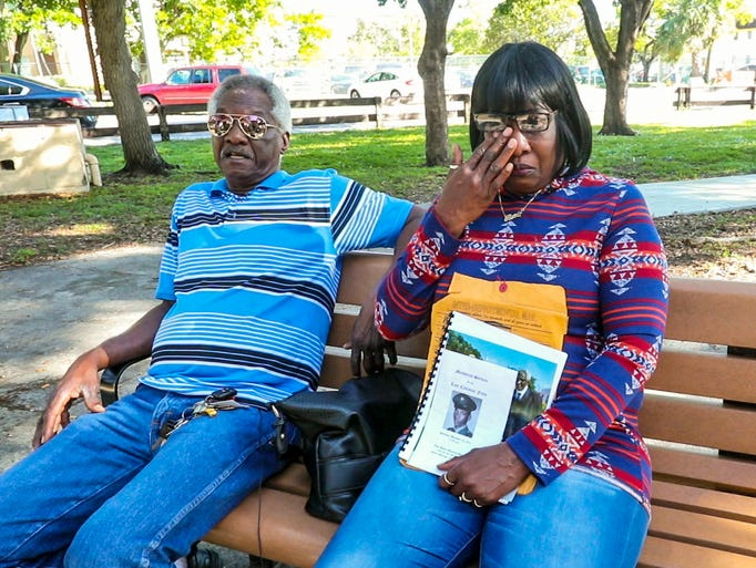 Larry and Toni McFarley outside of the Golden Glades