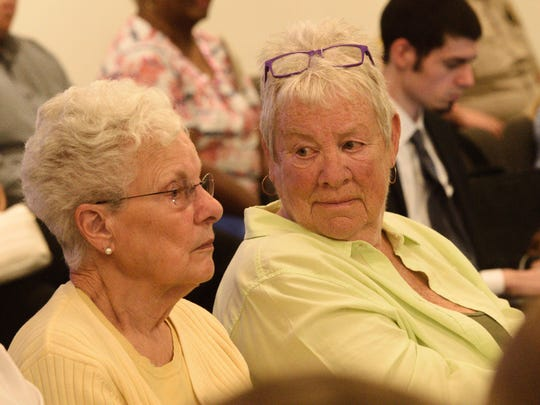 Marian Rubach, left, of Dover, and Pat Lackey, of Manchester,